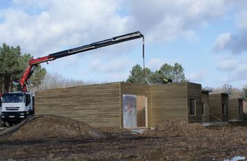 Construction de 399 cottages center parcs loudun 86 for Construction bois 86